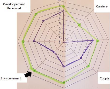 Modèle roue de vie complété