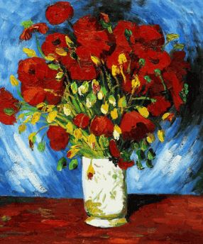 Vase de Pavot, Van Gogh